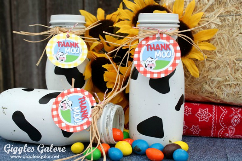Thank Moo Cow Print Bottles