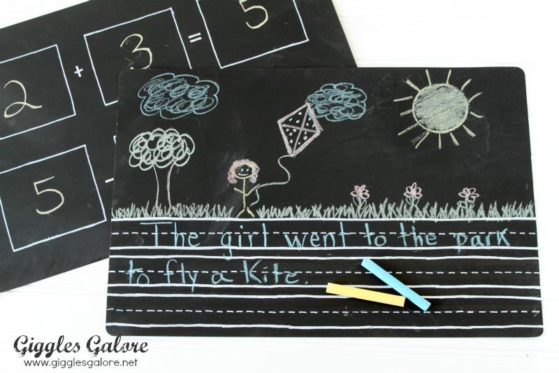 Writing Chalkboard Placemat