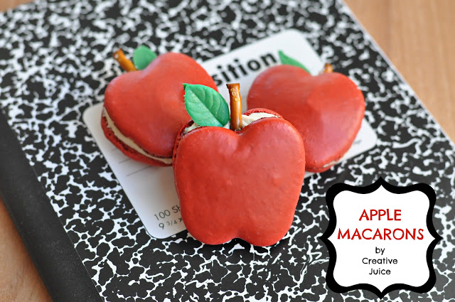 apple macaron composition book