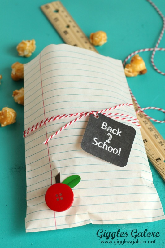 Back to School Treat Bags Giggles Galore