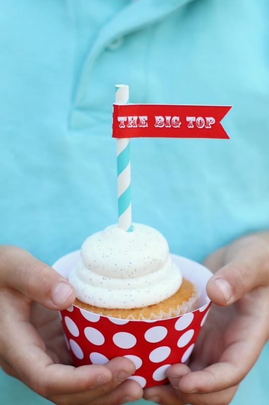 Big Top Circus Cupcake