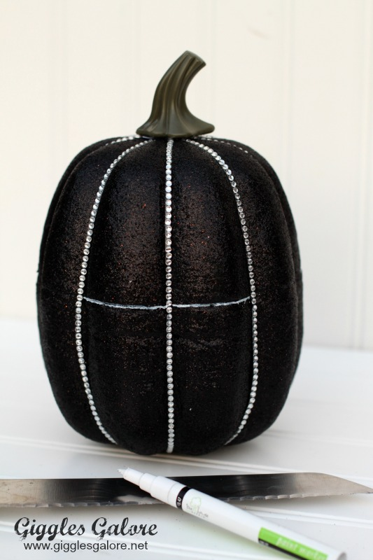 Bling Faux Pumpkin Marked