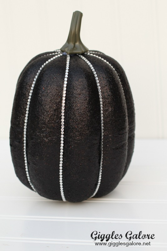 Bling Faux Pumpkin