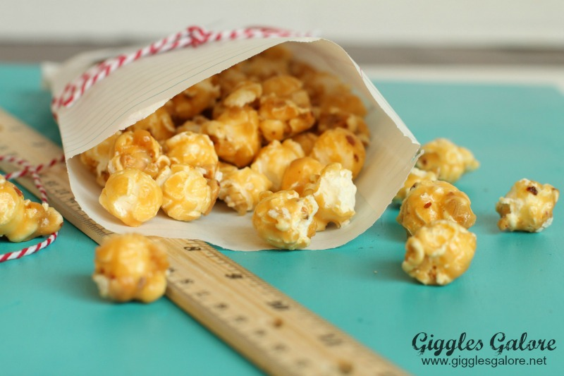 Caramel Popcorn in Notebook Treat Bags Giggles Galore