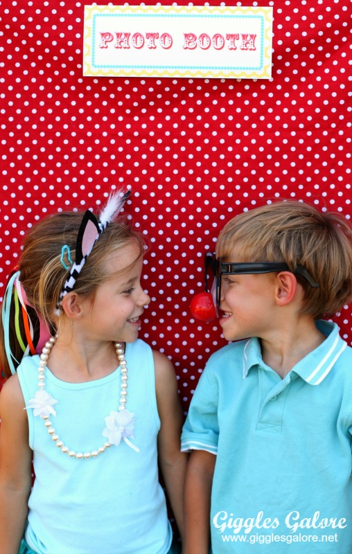 Circus Photo Booth with Twins