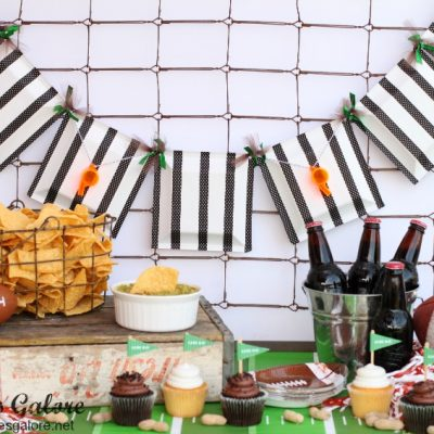 Game Day Referee Banner + 10 Football Crafts and Recipes
