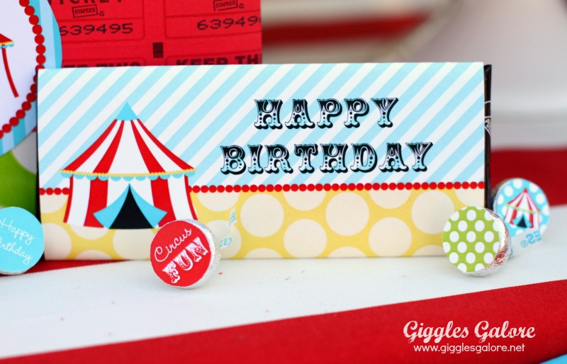 Giggles Galore Circus Candy Bar Wrap
