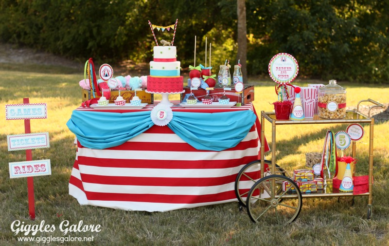 Giggles Galore Circus Dessert Table