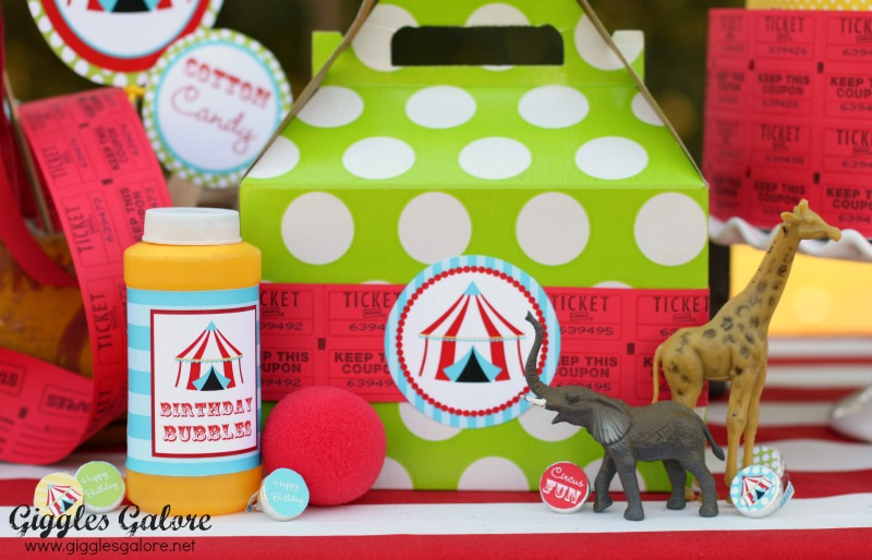 Giggles Galore Circus Party Favors