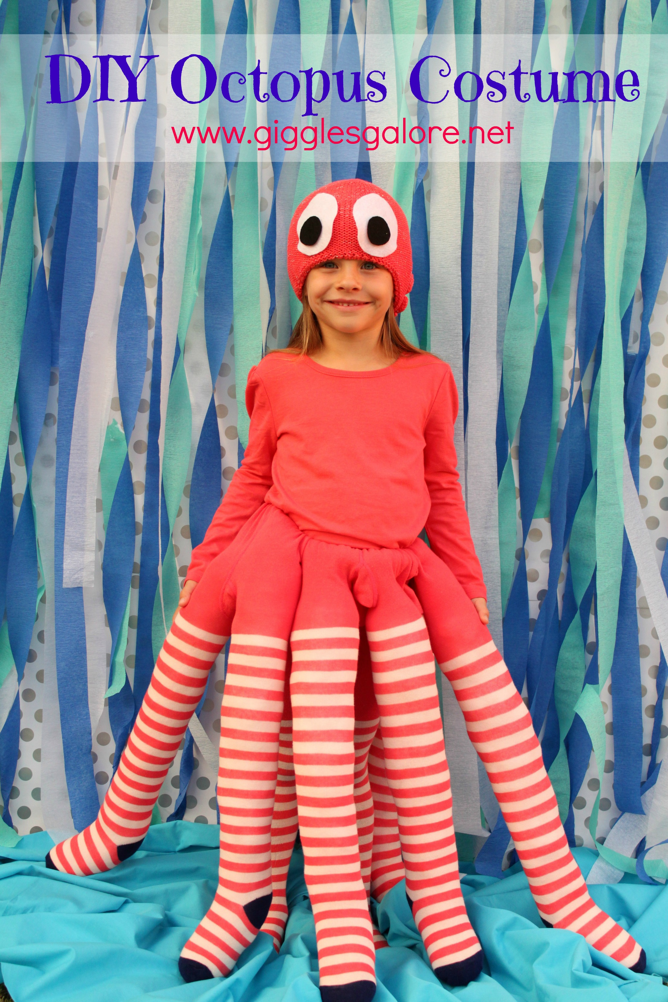 Giggles Galore Handmade DIY Octopus Costume  sc 1 st  Giggles Galore : kids octopus costume  - Germanpascual.Com