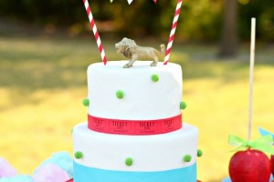 Giggles Galore Ticket Circus Cake