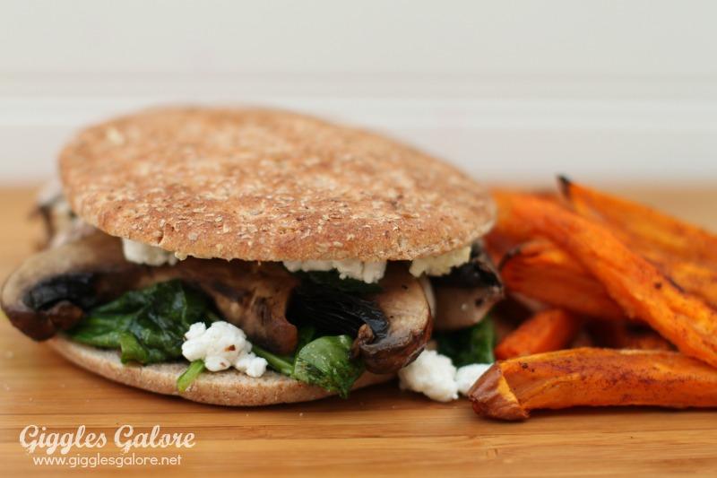 Portobello Mushroom Spinach Sandwich