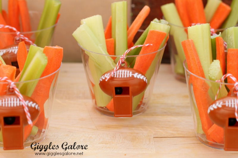 Veggies in Tailgate Party Cups
