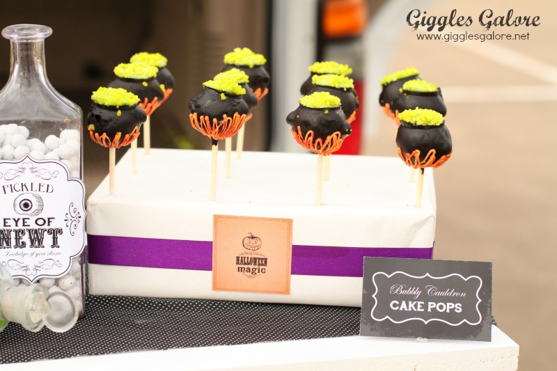 Black Hat Bake Shoppe Bubbly Cauldron Cake Pops