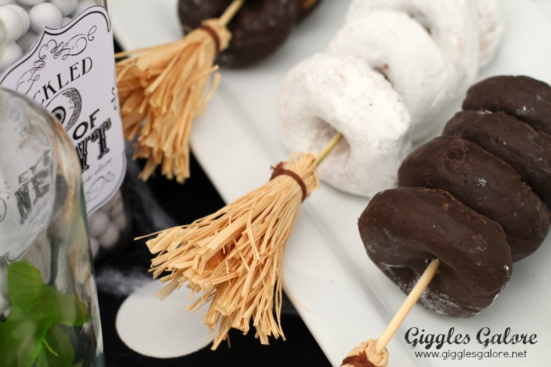 Broomstick Party Skewers Close Up
