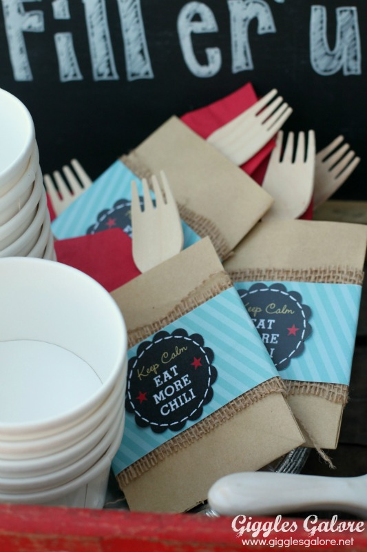 Chili Bar Party Utensil Packs