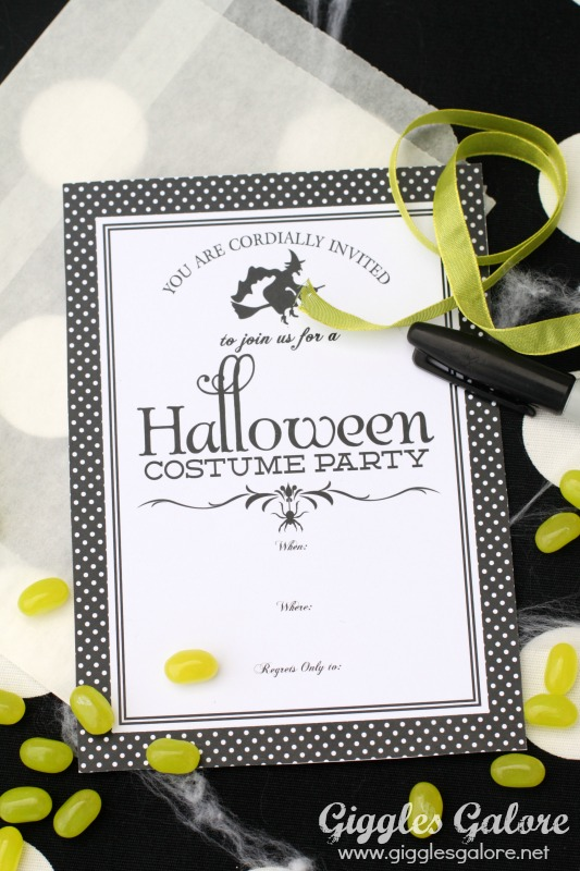 witches party invitations and free download giggles galore