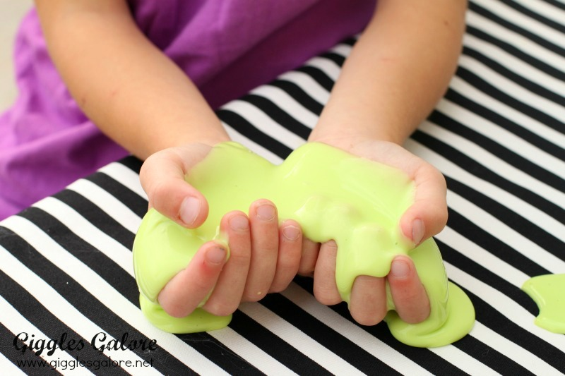 Holding Glow in the Dark Slime