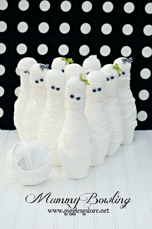 Mummy Bowling Halloween Party Game