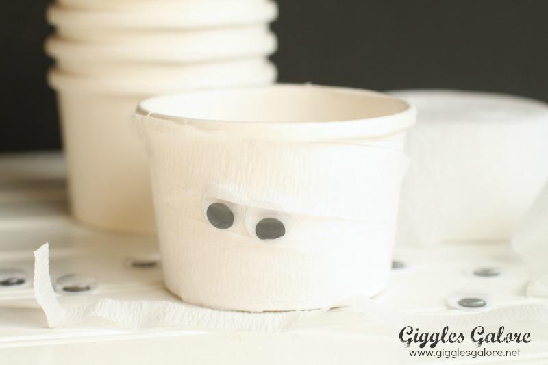 Mummy Ice Cream Cups