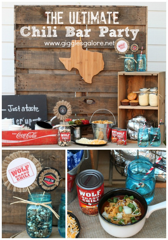 The Ultimate Chili Bar with Wolf Brand Chili - Giggles Galore