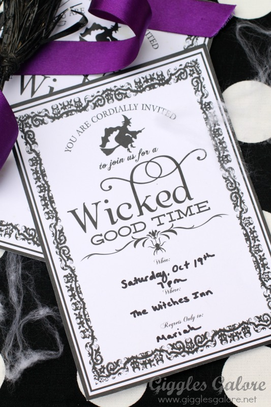 Wicked Good Time Party Invitation