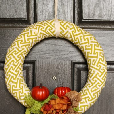 5 Minute Fall Wreath and Outdoor Thanksgiving Decor