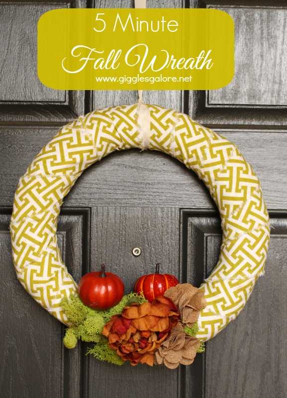 5 Minute Fall Wreath Tutorial Giggles Galore