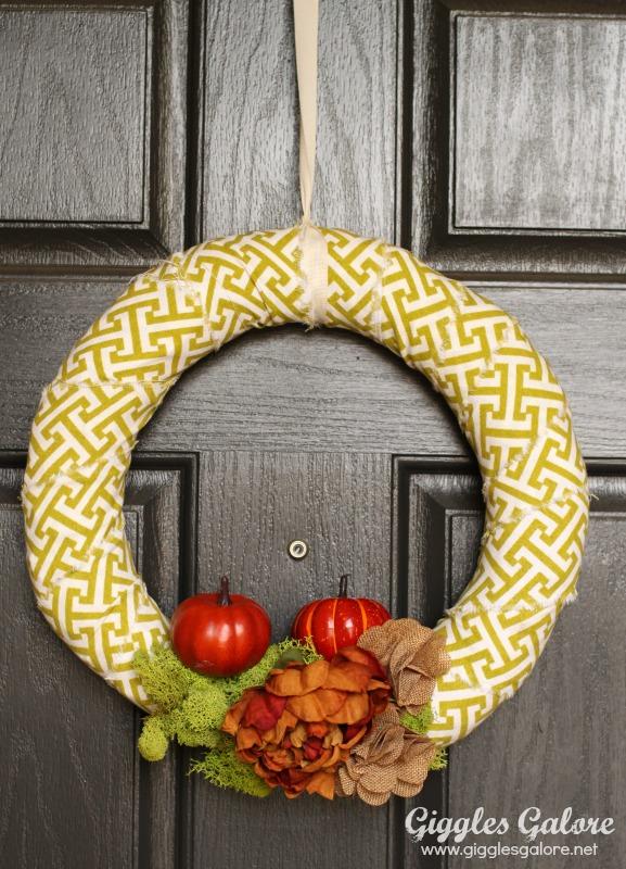 5 Minute Fall Wreath Tutorial