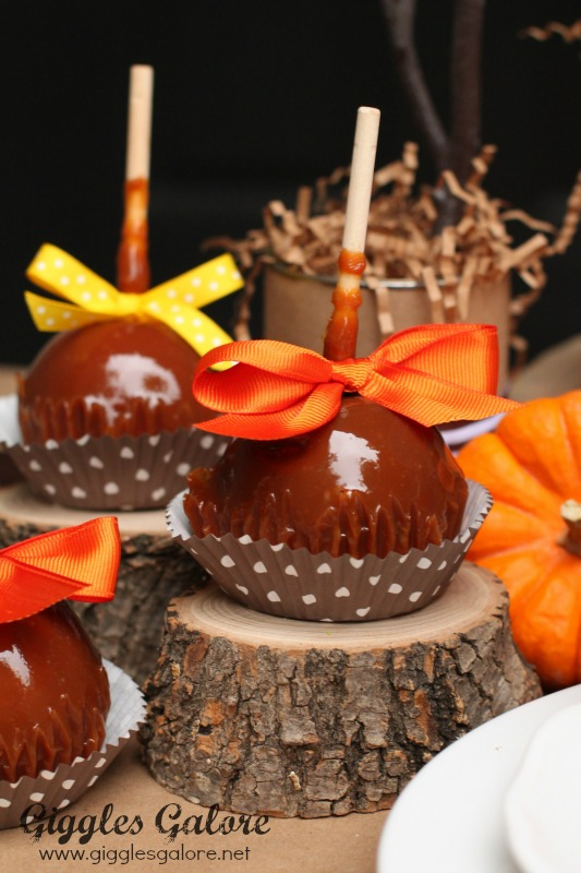 Fall Caramel Apples