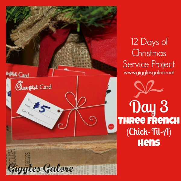 Giggles Galore 12 Days of Christmas Service Project Day 3