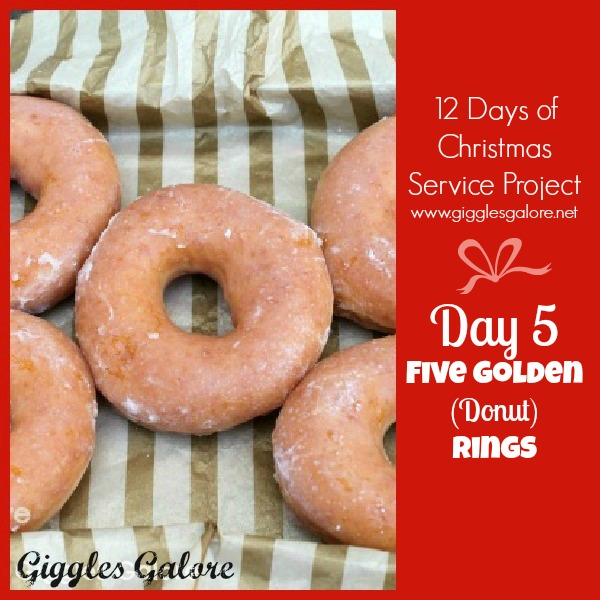 giggles galore 12 days of christmas service project day 5 - 12 Days Of Christmas Ideas