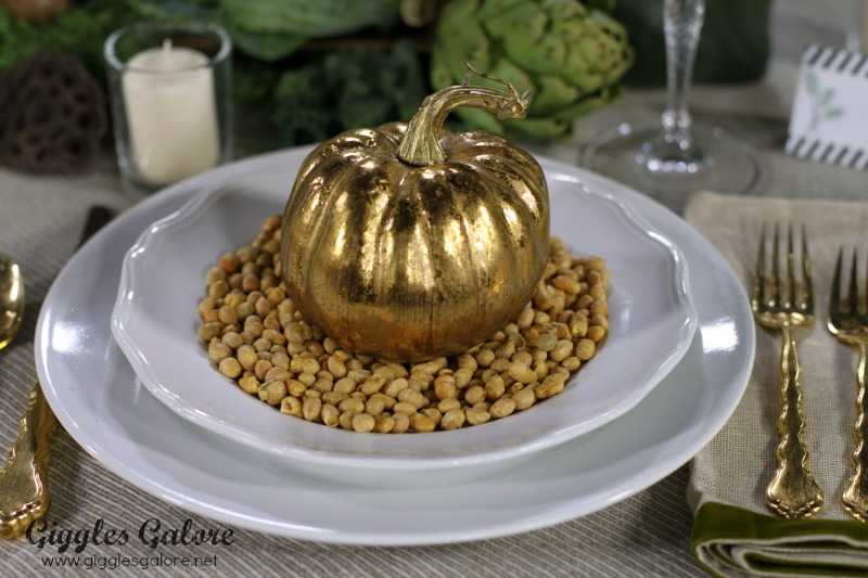 Gold Pumpkin Place Setting