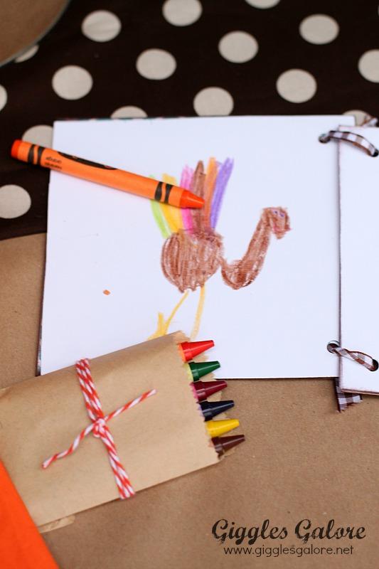 Thanksgiving Thankful Journal Kids Table