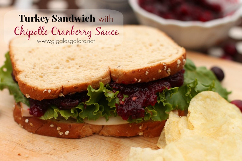 Turkey Sandwich with Chipotle Cranberry Sauce Giggles Galore