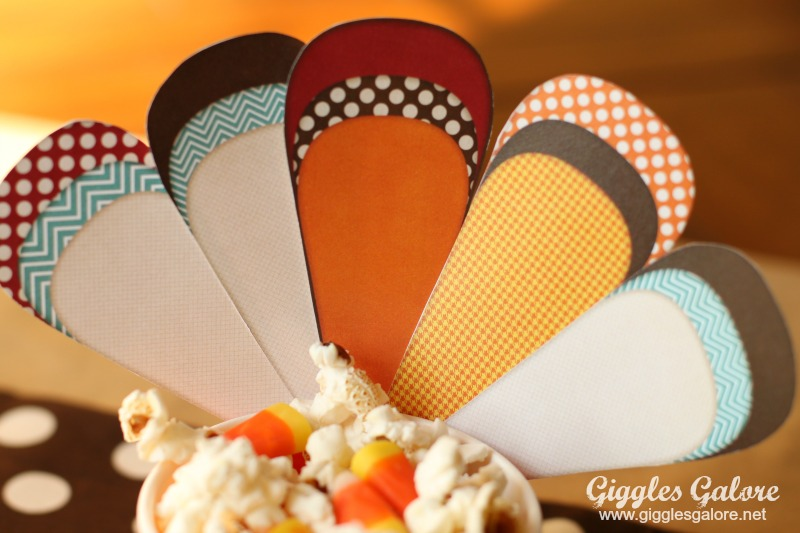 Turkey Treat Cup Feathers