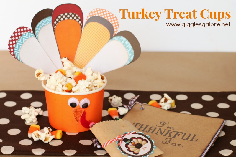 Turkey Treat Cups by Giggles Galore