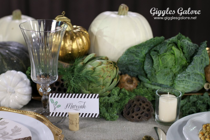 Veggie Inspired Thanksgiving Centerpiece