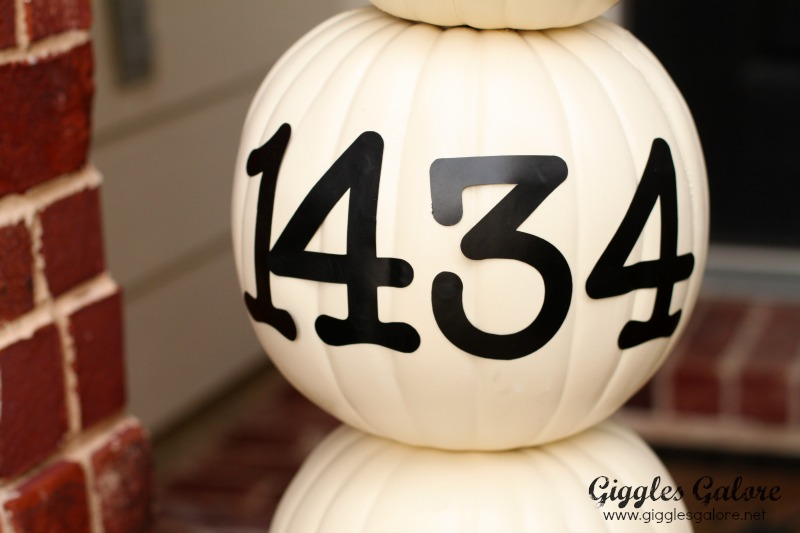Vinyl Address Custom Pumpkin Topiary