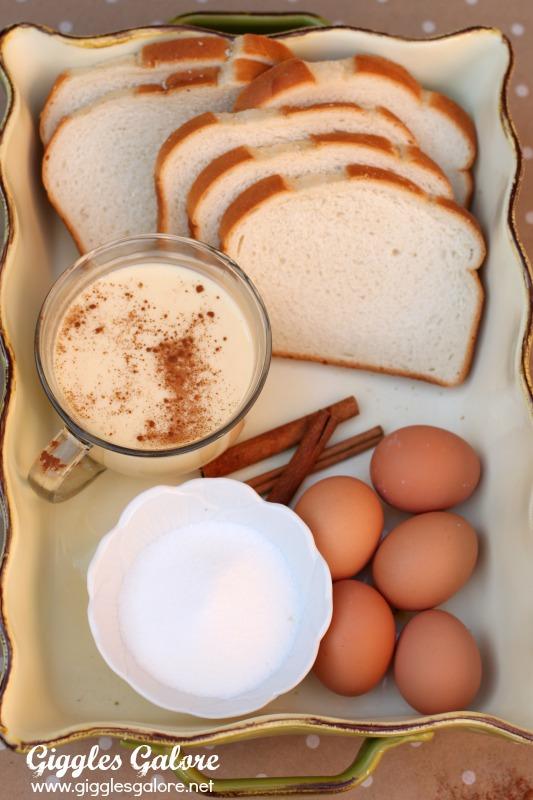 5 Ingridient Eggnog French Toast