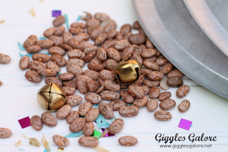 Beans and Bells for Paper Plate Noise Makers