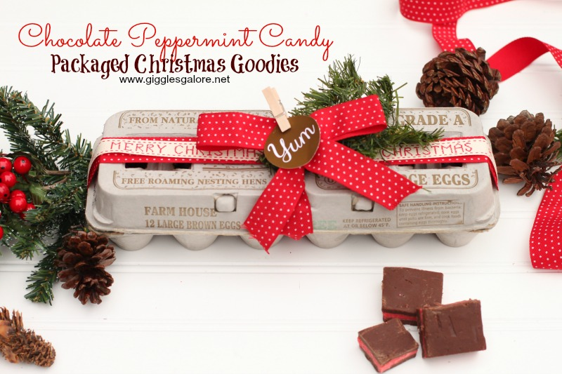 Chocolate Peppermint Candy Packaged Christmas Goodies