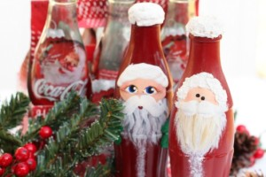 Coke Bottle Santa Giggles Galore