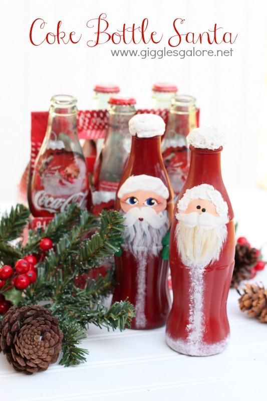 Coke Bottle Santa Giggles Galore