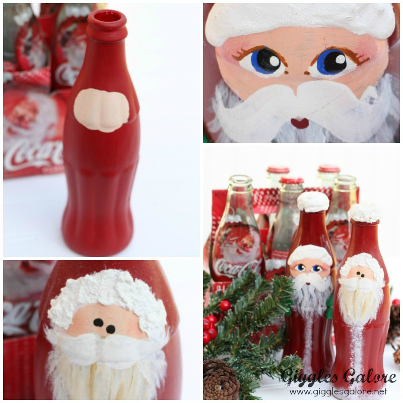 Coke Bottle Santa Steps