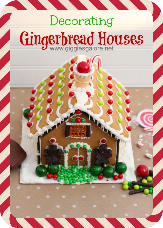 Decorating Gingerbread Houses Peppermint Frame