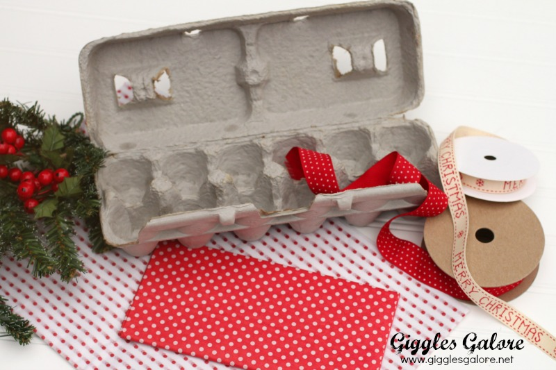Egg Carton Cookie Gift Container