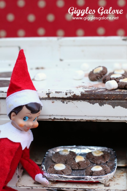 Elf on the Shelf Baking Cookies