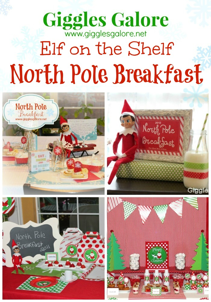 Giggles Galore Elf on the Shelf North Pole Breakfast Ideas