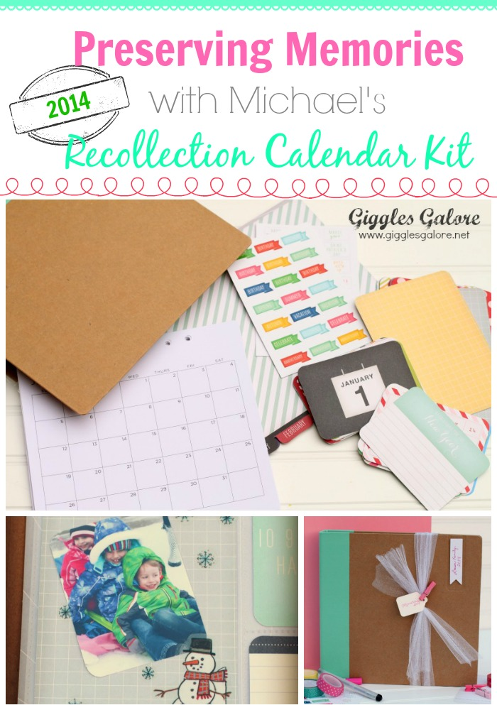 Preserving Memories with Michaels Recollection Calendar Kit